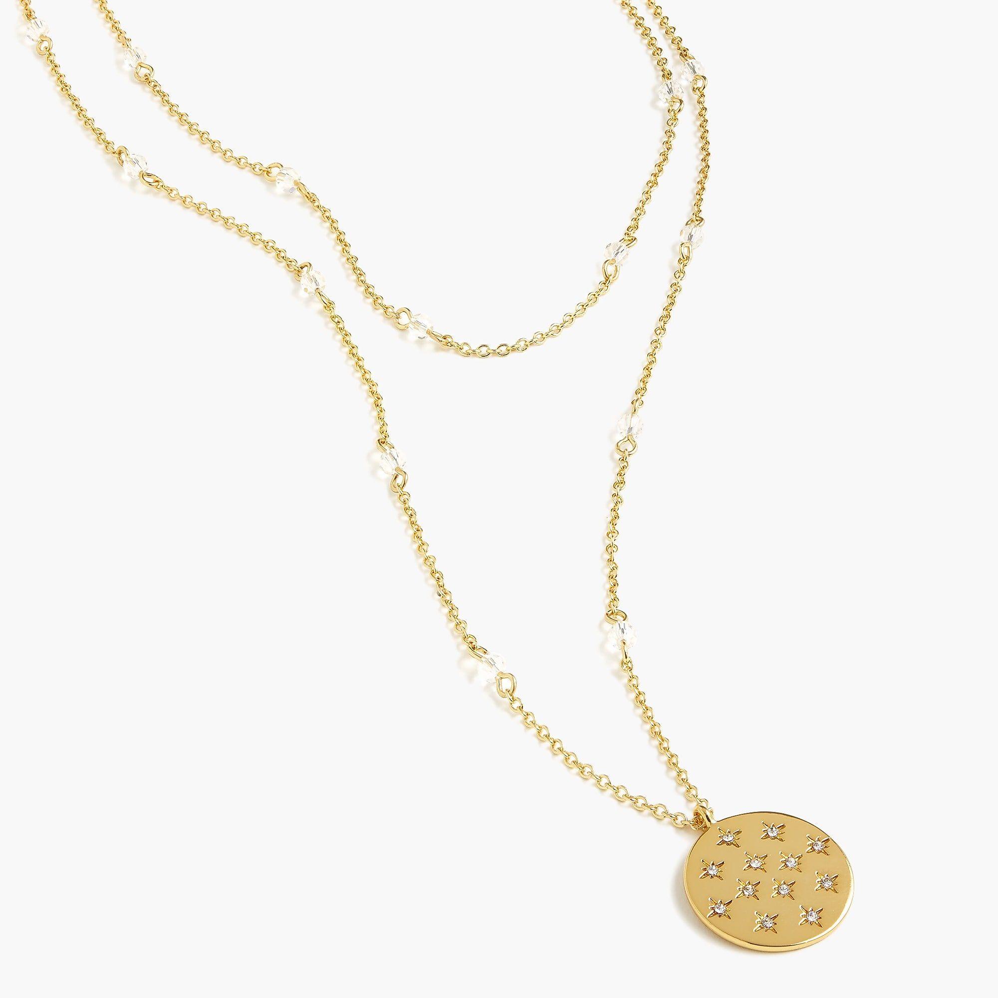 Shop the womenus alison lou x jcrew layered pendant necklace at j