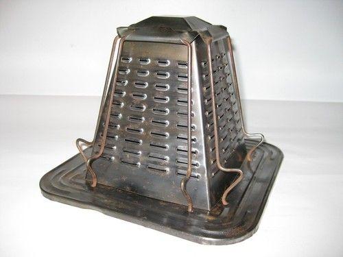 Antique Tin Metal Stove Top Toaster Vintage Stovetop Nice