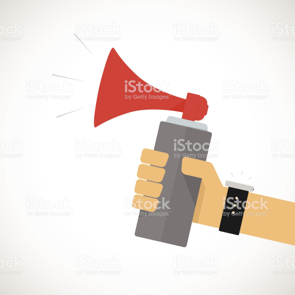 Hand Holding Air Horn Free Vector Art Stock Illustration Vector Free
