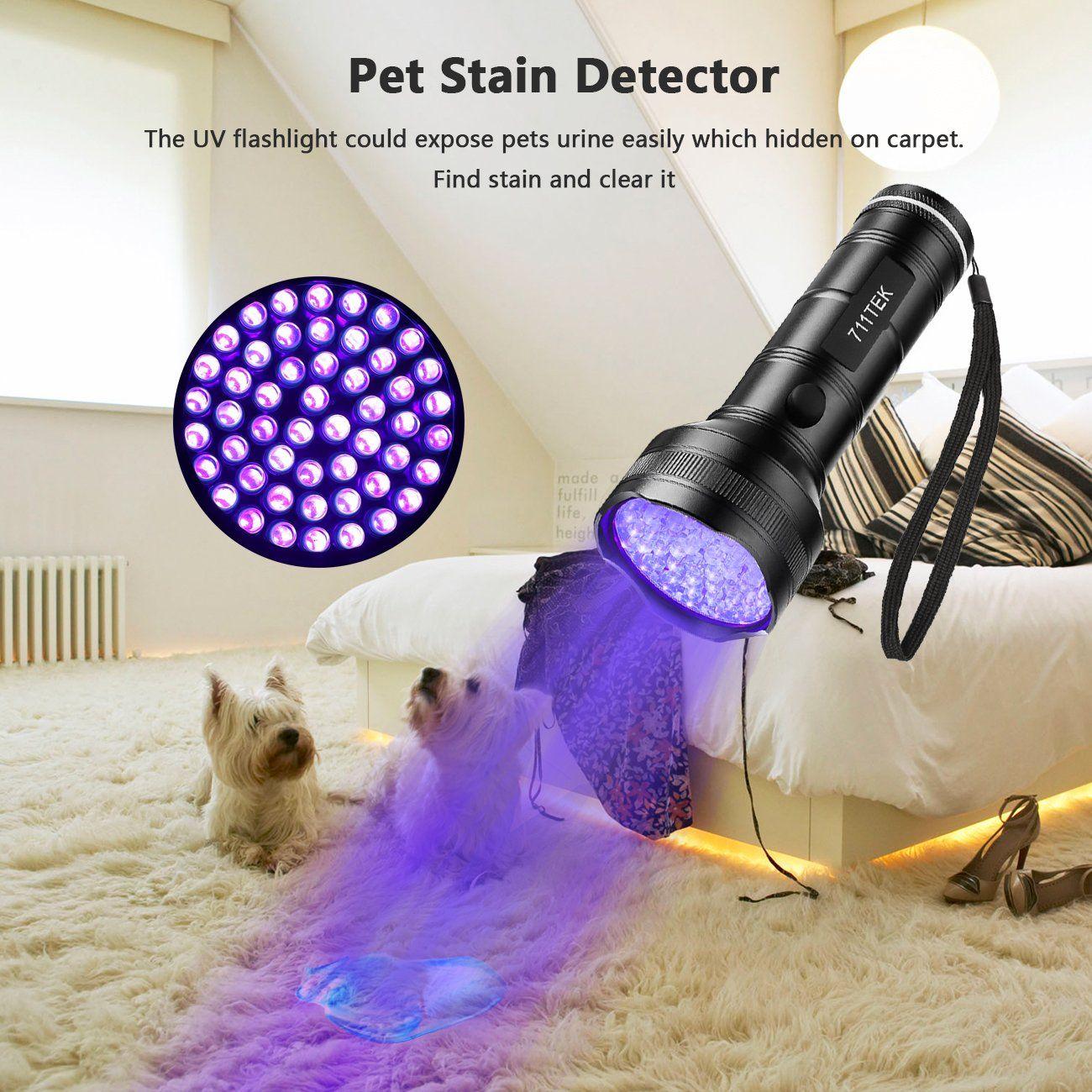 UV Black Light Flashlight LED Ultraviolet Light Pets Urine