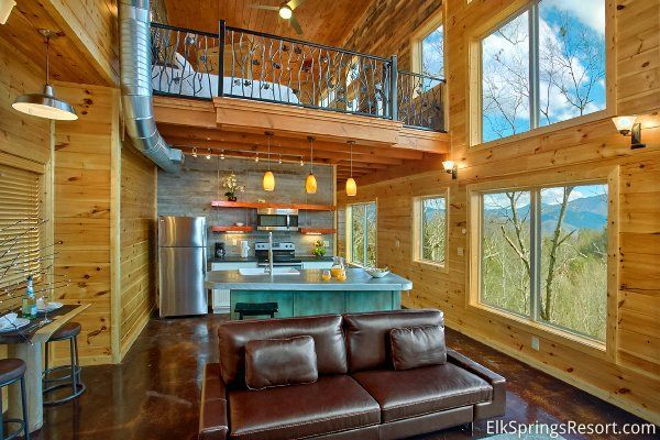 Romantic Modern Cabin With Indoor Pool Spa And Amazing Mountain Views Gatlinburg Modern Cabin Cabins And Cottages Cabin