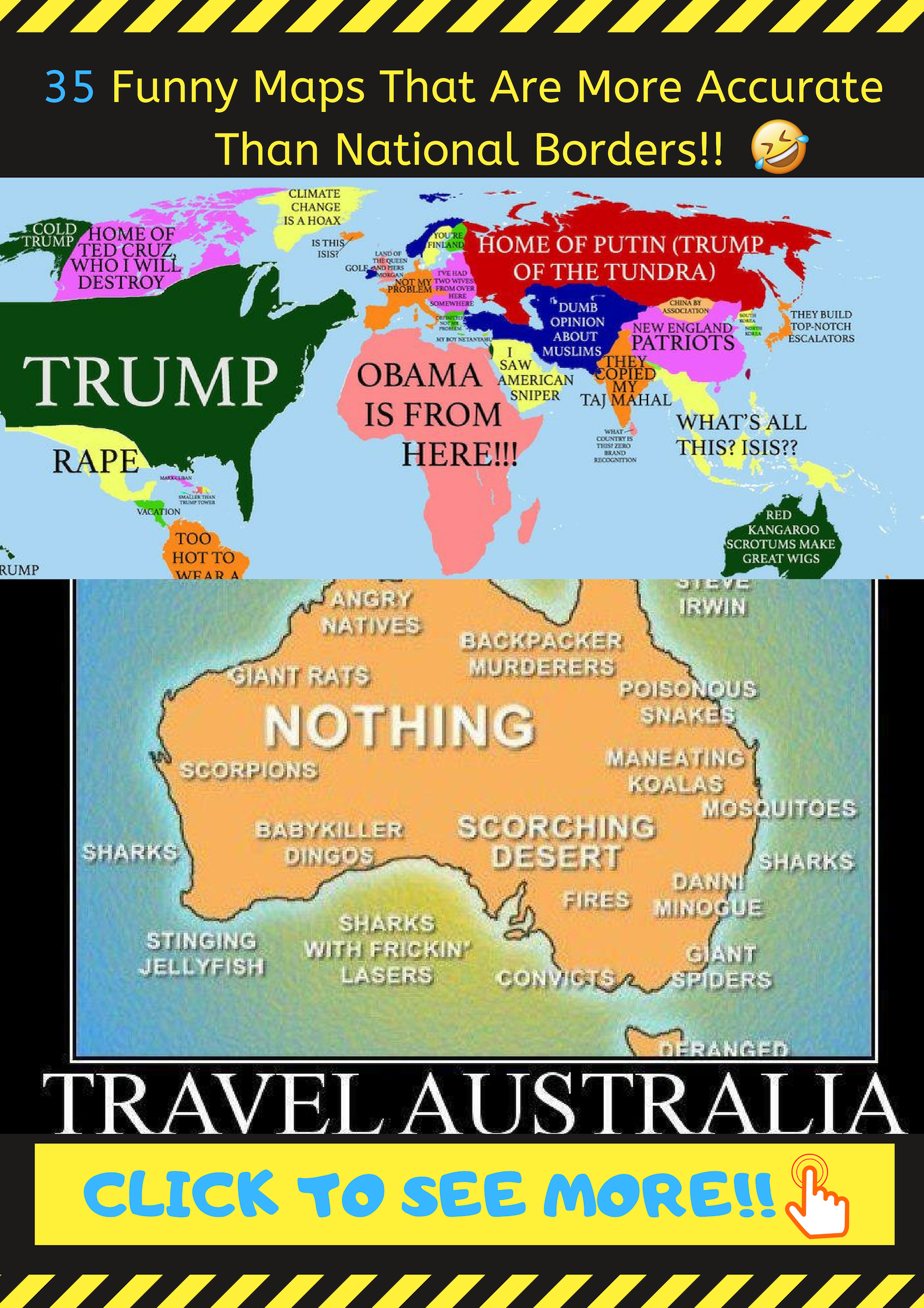 35 Funny Maps That Are More Accurate Than National Borders