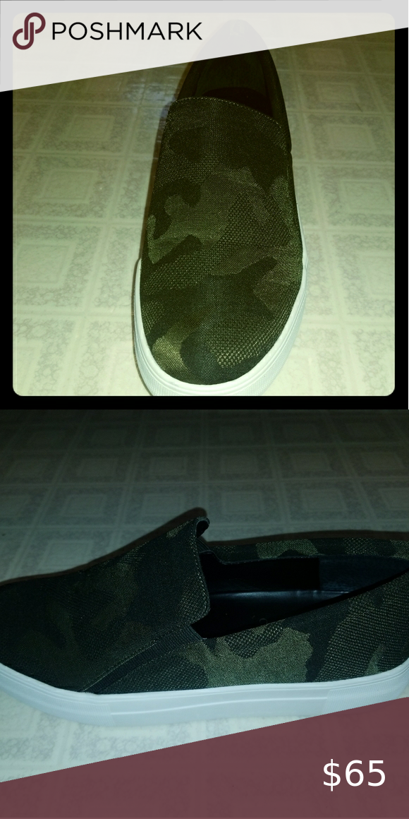 Vince Camuto Camo Slip Ons in 2020