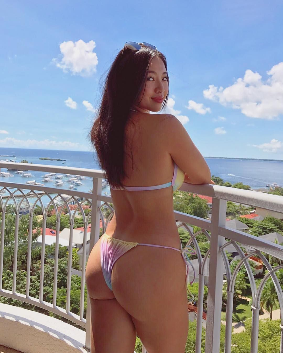 Asian bikini girl thong
