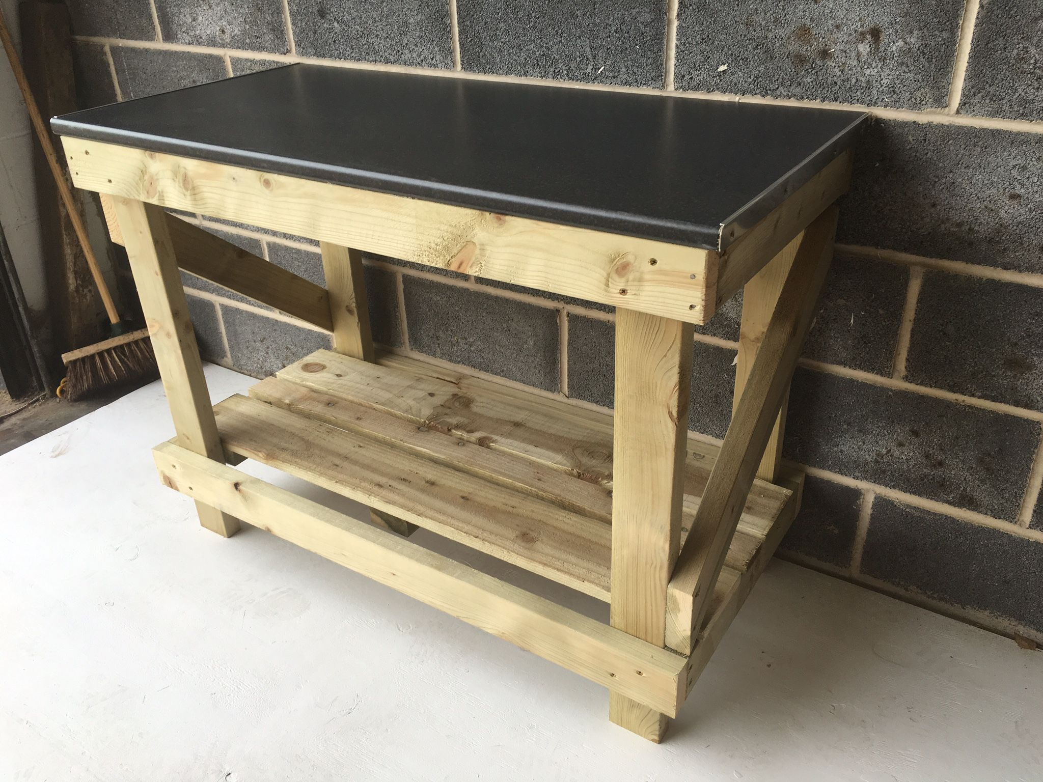 4ft Kitchen Worktop Style Heavy Duty Workbench For The