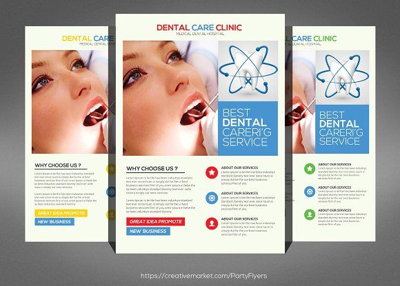 Medical Dental Center Flyer by Party Flyers on @creativemarket - hospital flyer template