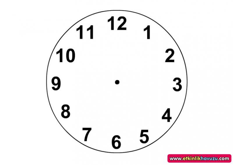 (Şimdiye kadarki en iyi) Saat Boyama Sayfası