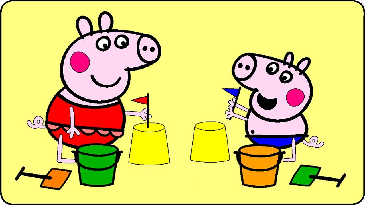 Peppa Pig Coloring Pages for Kids - Peppa Pig Coloring Games - Peppa ...