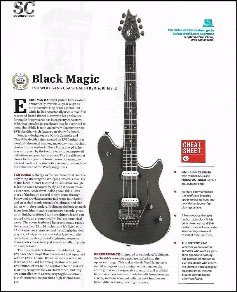 2b82a9474944 Eddie Van Halen EVH Wolfgang USA Stealth Guitar 8 x 11 Sound Check Gear  Review  EVH