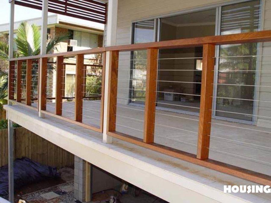 Barandas de madera para exterior buscar con google barandas pinterest barandilla de - Barandilla de madera exterior ...