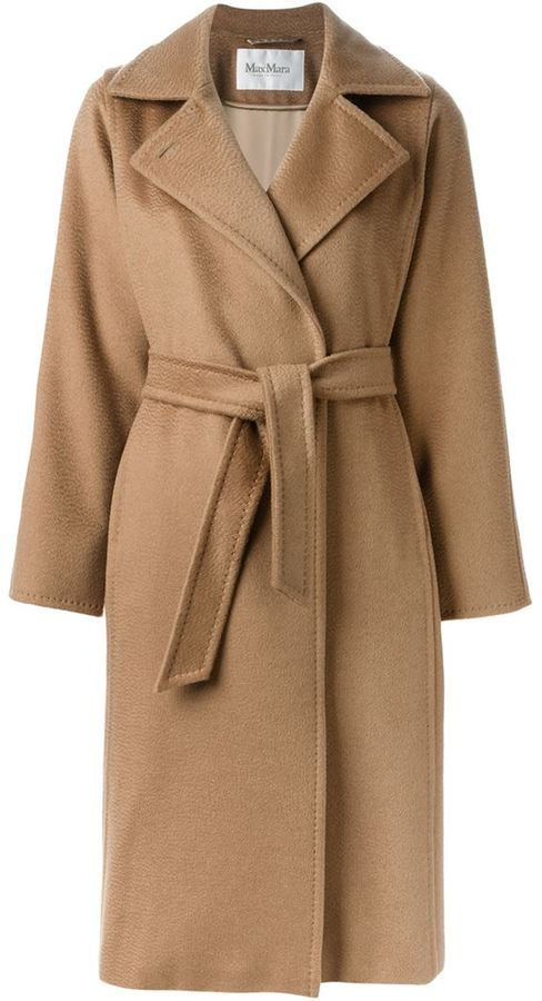 eace67b7cd52 Max Mara belted camel hair overcoat at Farfetch $2,590 | Coat | Coat ...