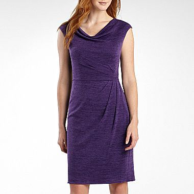 American Living Short Sleeve Cowlneck Dress jcpenney Wedding