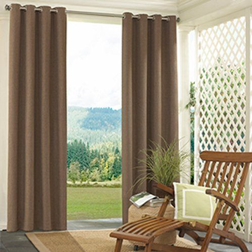 Have To Have It Parasol Sonora Solid Indoor Outdoor Curtain Panel