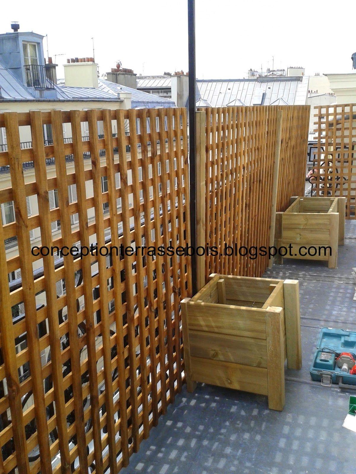 Bois Pour Brise Vue brise vue en bois pour balcon ou terrasse | terrasse bois