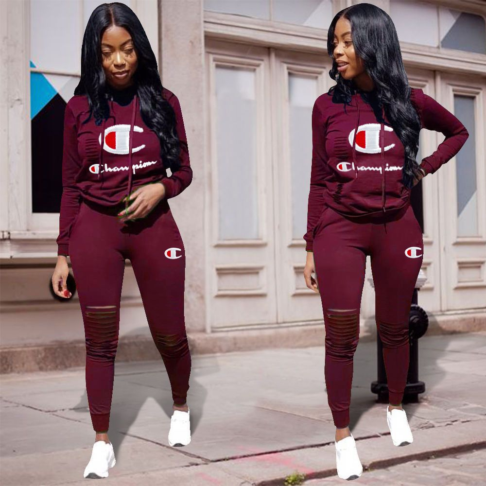 4f830f579e Details about 2pcs/set Women Casual Tracksuit Jogging Gym Sports ...