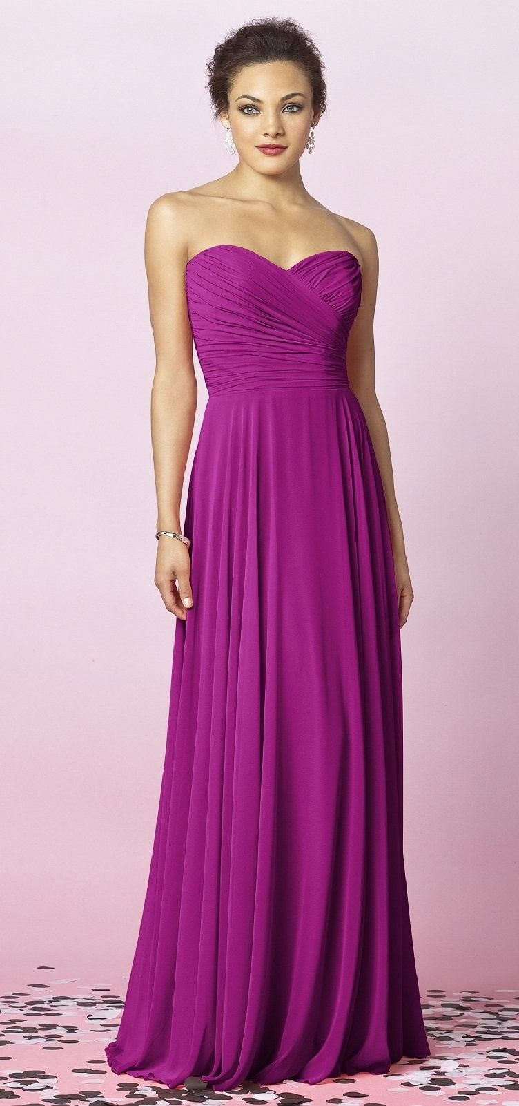 After Six Floor Length Magenta Bridesmaid Dress, STYLE 6639, 1140 ...