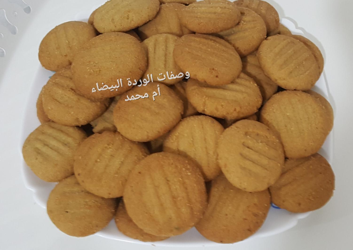 بسكويت الشعير بنكهة البرتقال بالصور من وصفات أم محمد الوردة البيضاء 1 Recipe Delicious Cookies Food