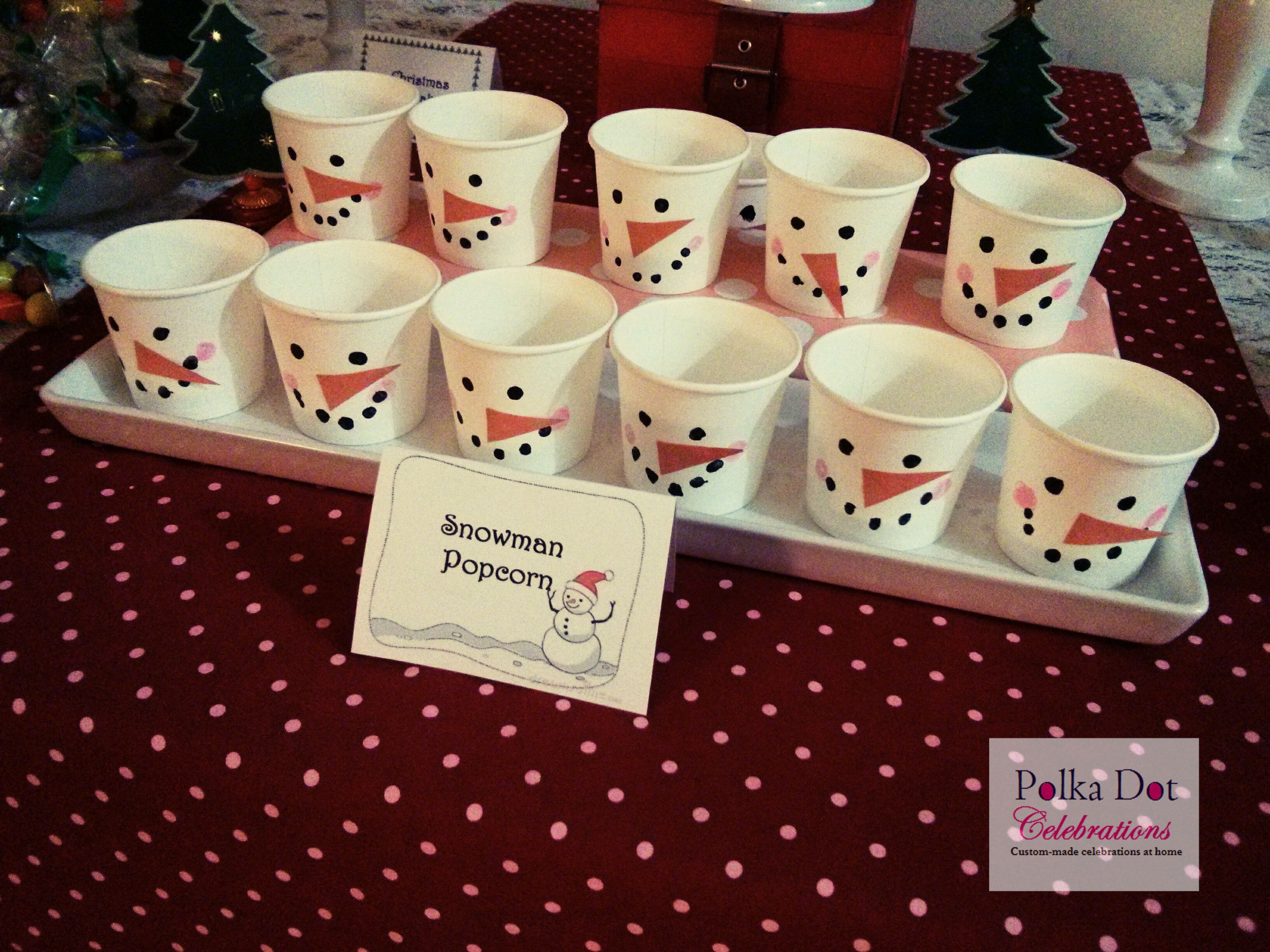 Nice Christmas Party Ideas For School Part - 12: Snowman Party Menu | Christmas Party Ideas For Kids Party - Polka Dot  Celebrations