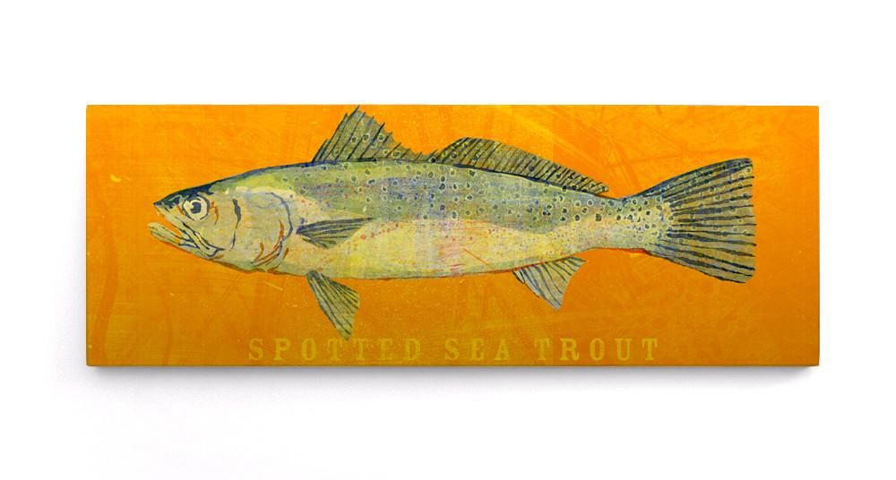 The Big One- Large Saltwater Fish Art Block- Pick the Print- 6.5\