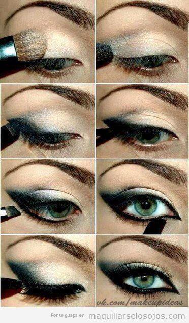Tutorial maquillaje ojos ahumados negro aprender paso a paso