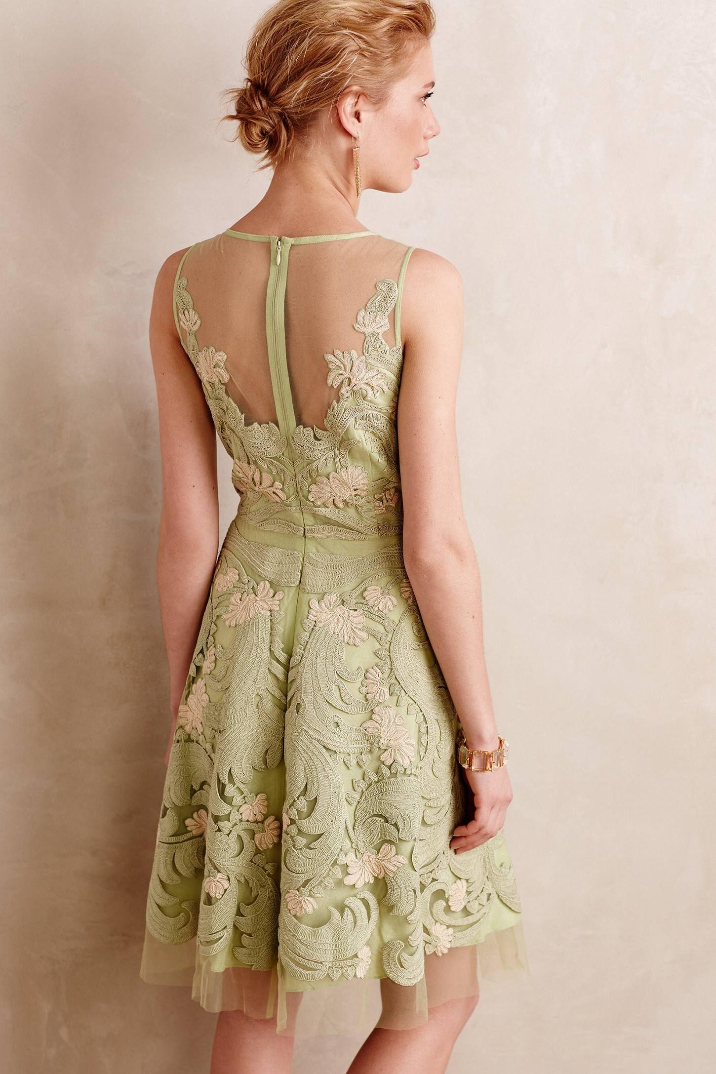 NEW Anthropologie Embroidered Panna Dress by Pankaj & Nidhi Size 8