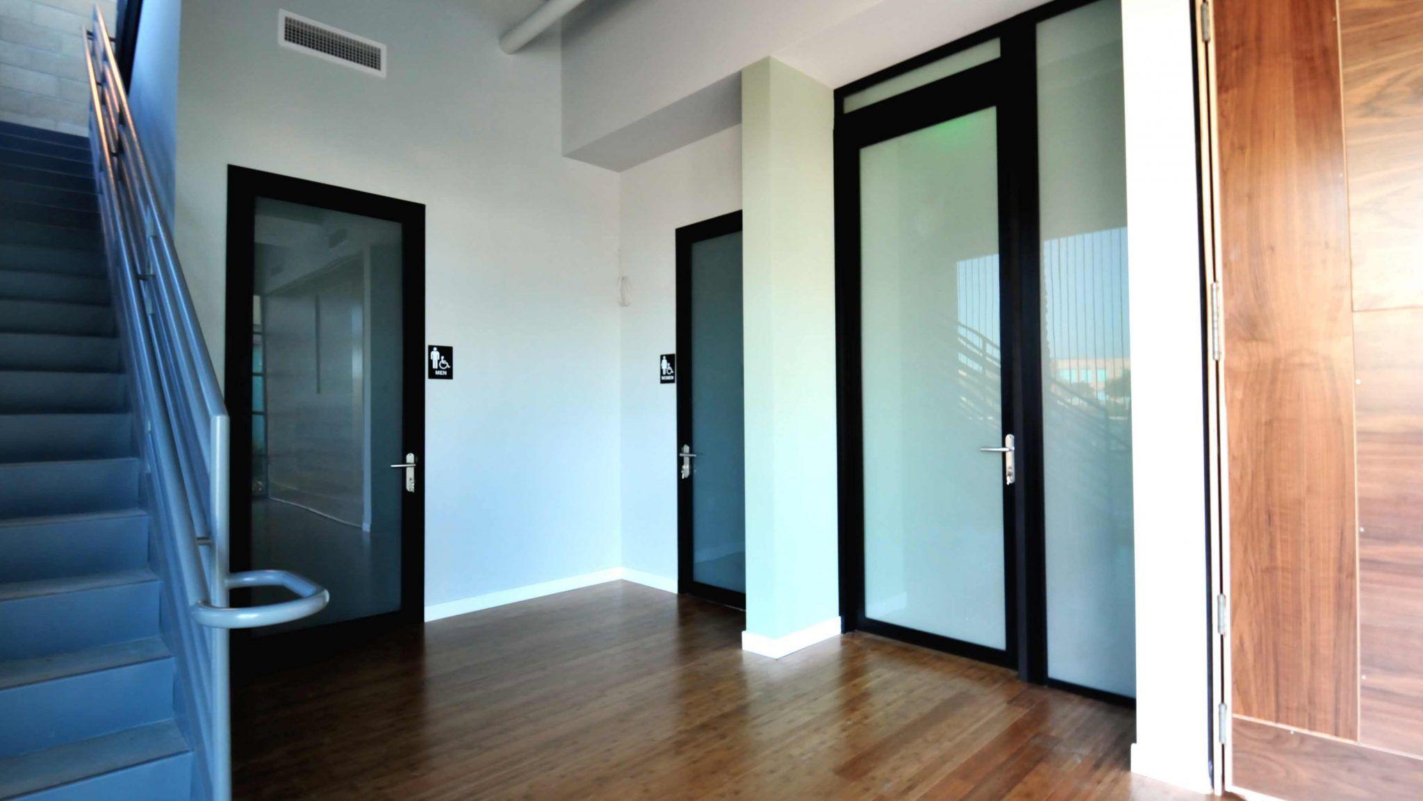 Commercial Restroom Entry Swing Door Project | Space Plus ...