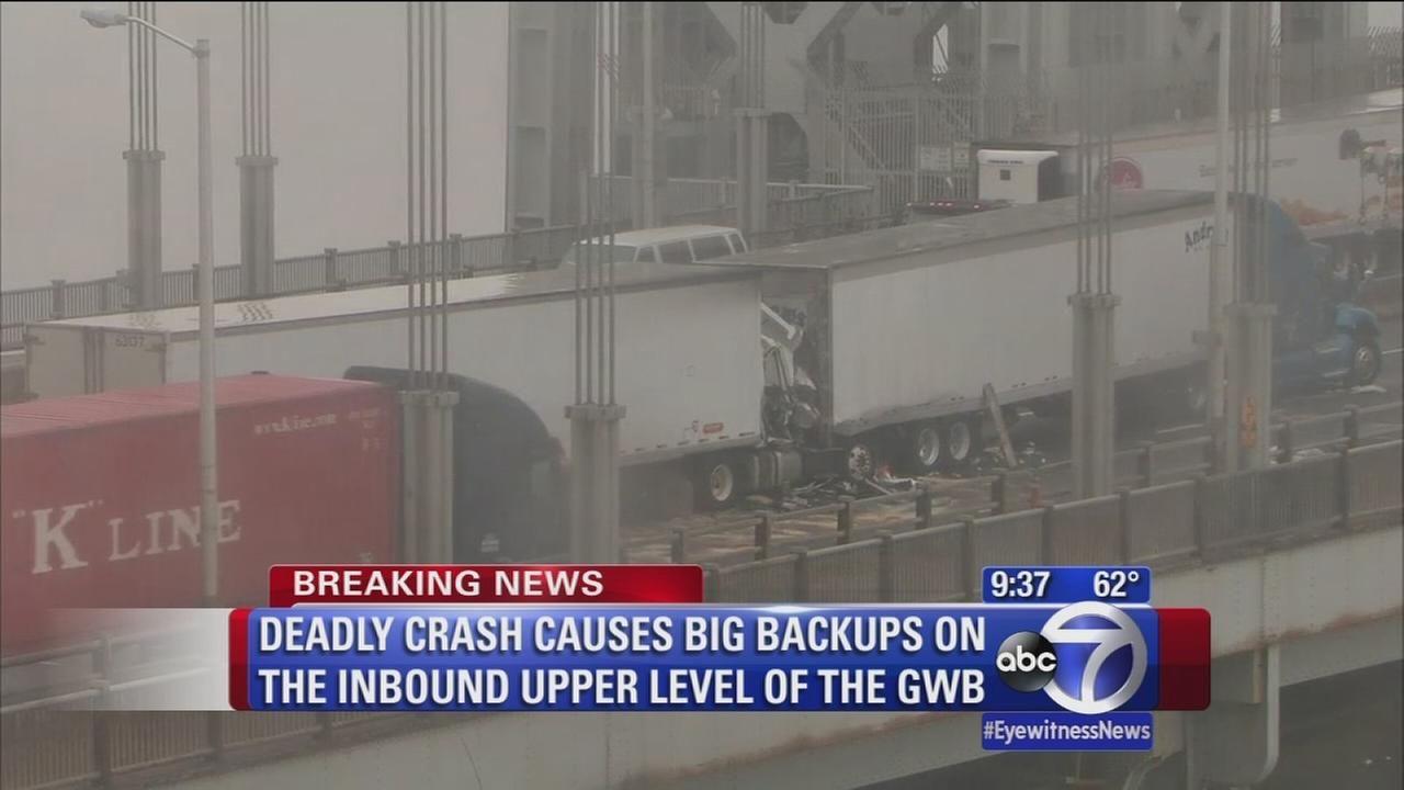 Fatal tractortrailer accident stalls inbound