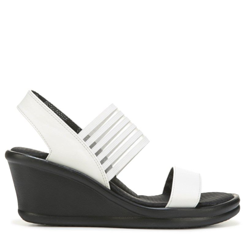 784c0b961e8 Skechers Women s Rumblers Sci-Fi Wedge Sandals (White) - 10.0 M ...