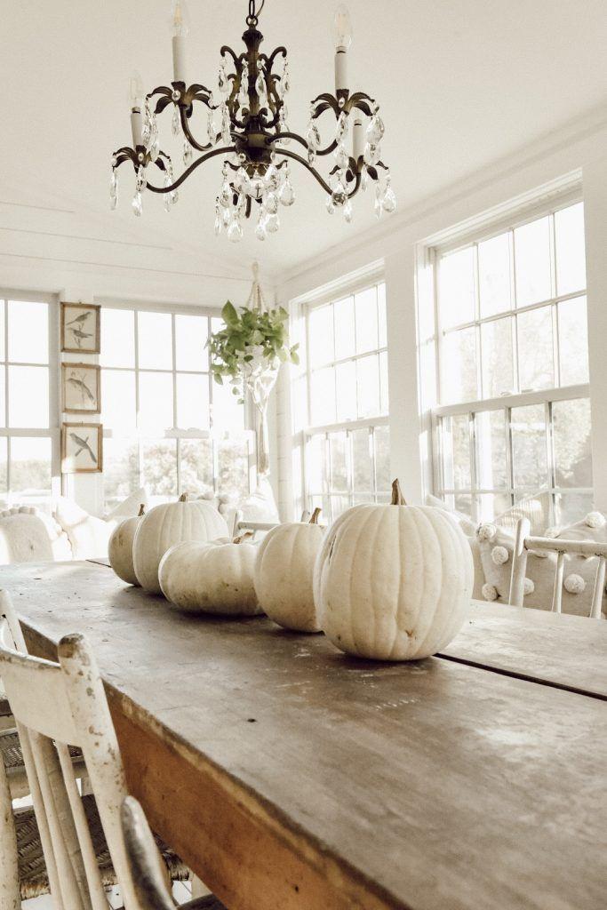 Simple fall pumpkin decor.