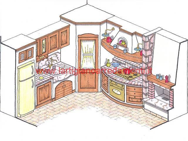 Cucine rustiche o in muratura cerca con google arredo for Progetti cucine in muratura rustiche