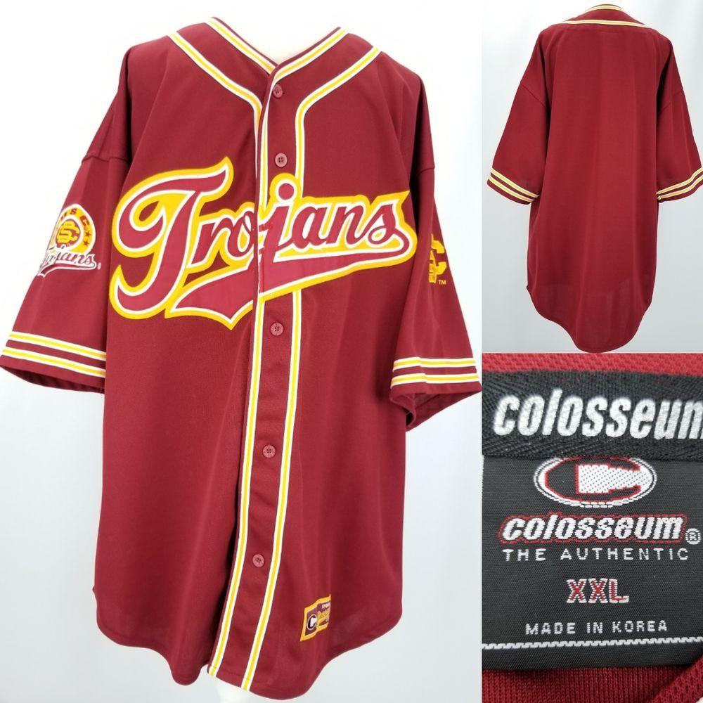 finest selection 22305 6ae73 Colosseum Mens XXL 2XL USC Trojans Red Retro Throwback ...