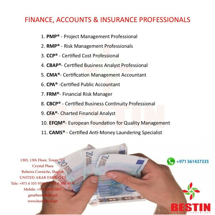 Leading Banking Finance Accounts Insurance Certification