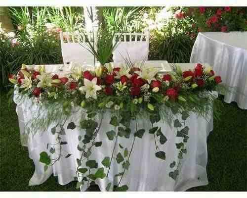 Centro mesa arreglos florales naturales bodas 15 a os for Arreglos de mesa para boda