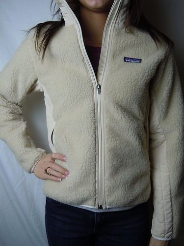 Womens Patagonia Classic Retro x Jacket Natural Size Medium