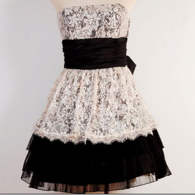 Betsy Johnson Black White Lace Dress Things I Want