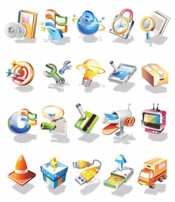 Free vector 3d web icons