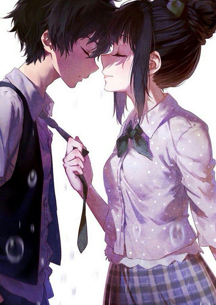 Anime boy and girl honeyworks anime romance anime kiss