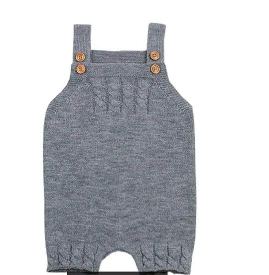 Photo of MIlANCEl 2018 New Baby Clothing Solid Baby Boys Rompers Sleeveless Girls Jumpsuits Knitted Baby Outerwear Casual Girls Clothes