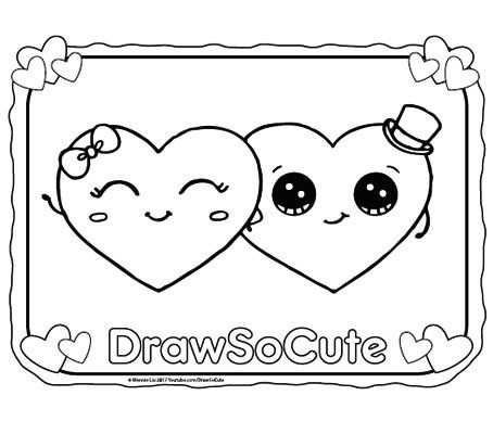Hi Draw So Cute Fans Get Your Free Coloring Pages Of My Draw So Cute Characters Here Have Fun Coloring Cute Coloring Pages Easy Animal Drawings Cute Drawings