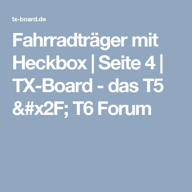 fahrradtr ger mit heckbox seite 4 tx board das t5. Black Bedroom Furniture Sets. Home Design Ideas