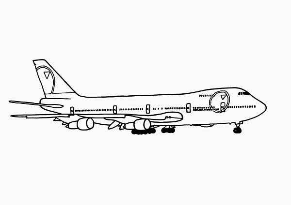 747 Jumbo Jet Coloring Page Download Print Online Coloring Pages For Free Color Nimbus Airplane Coloring Pages Online Coloring Pages Coloring Pages
