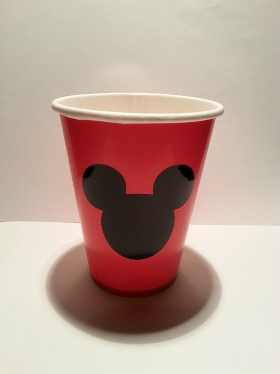 Mickey Mouse Birthday Party Cups set of 12 by MagicalFantasia2, $8.00