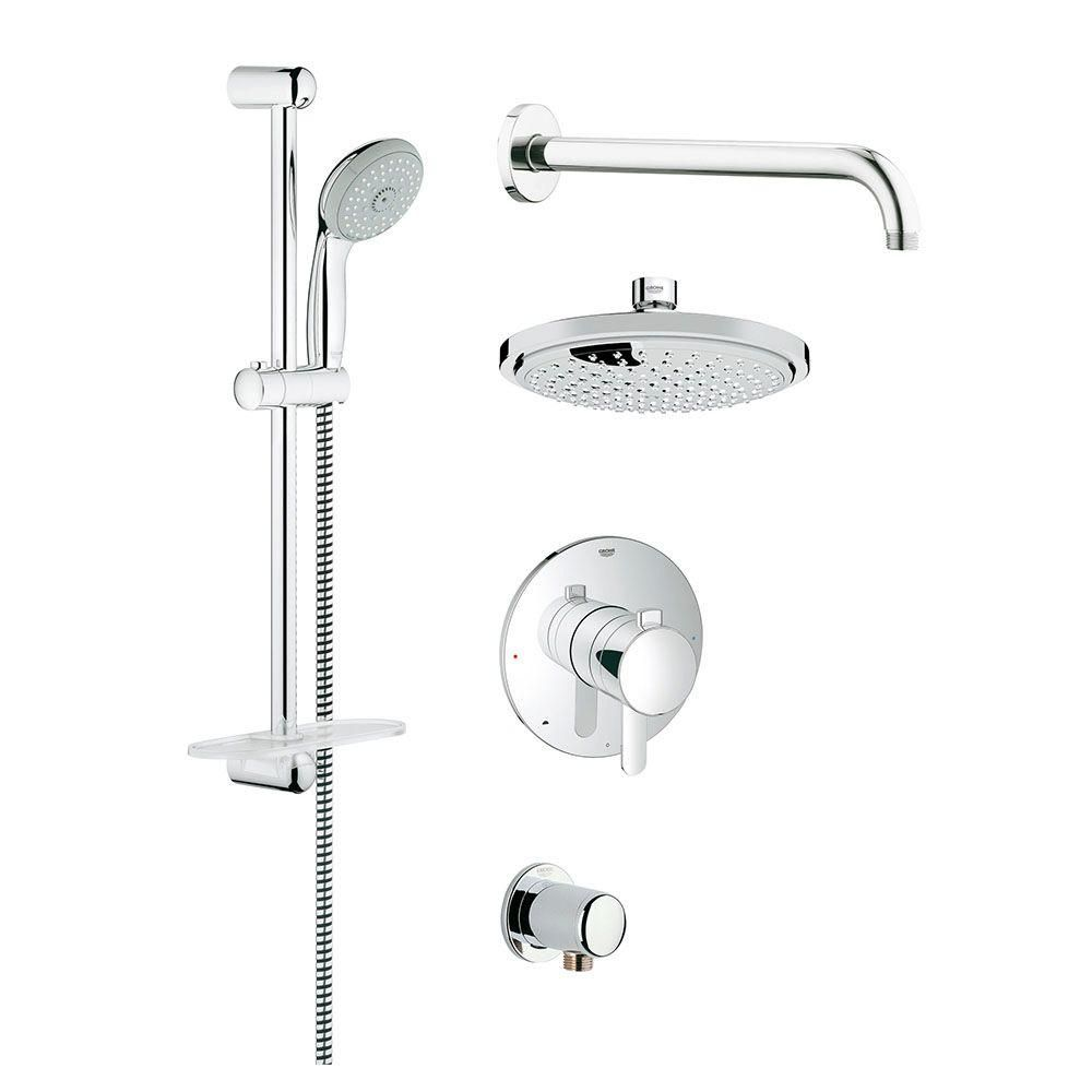 GROHE GrohFlex Cosmopolitan Shower Set 1-Spray Shower System in ...