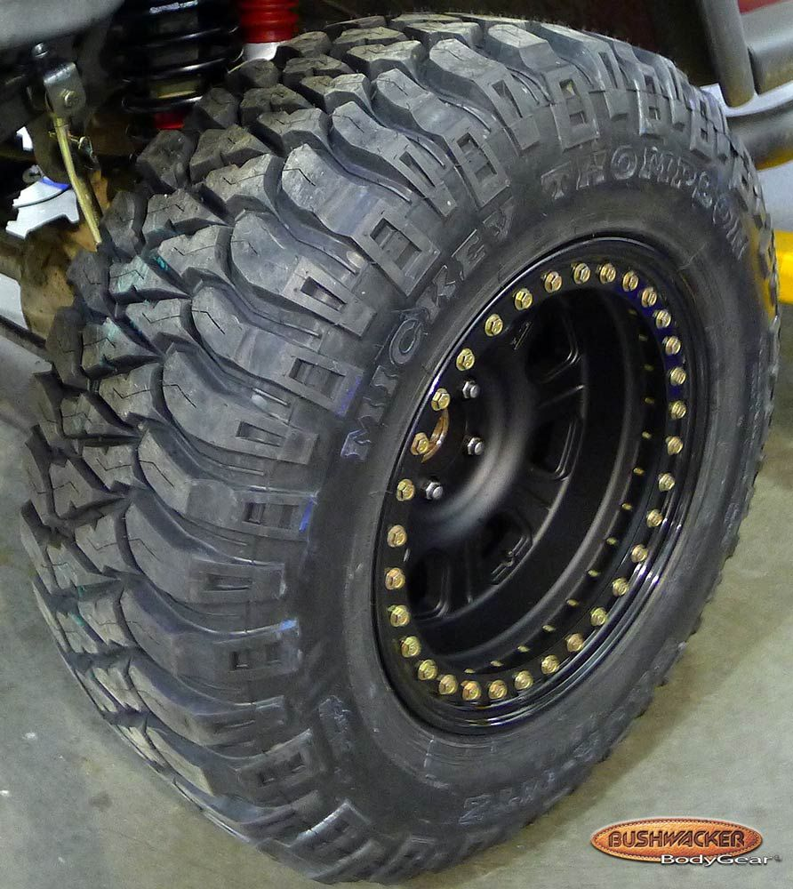 Mickey Thompson Baja MTZ tires & Raceline Monster Beadlock ...