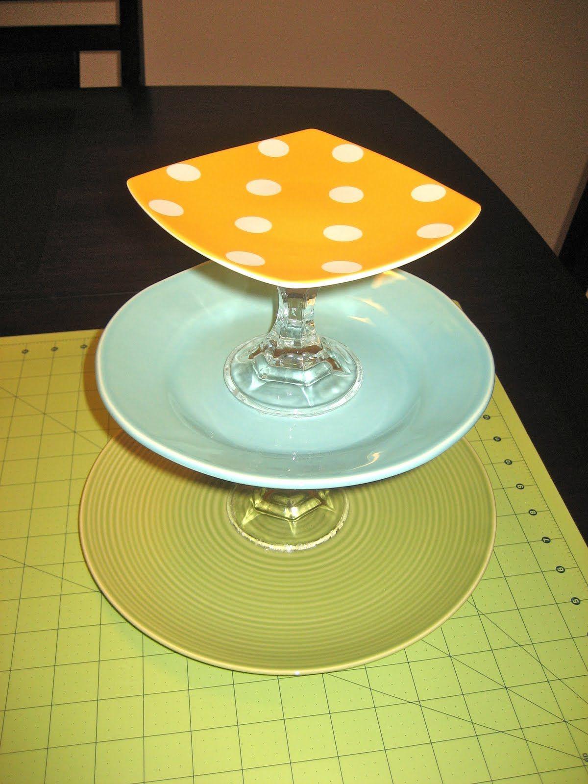 Mommas Like Me DIY Tiered Plates tutorial & Mommas Like Me: DIY Tiered Plates tutorial | Storage u0026 Displays ...
