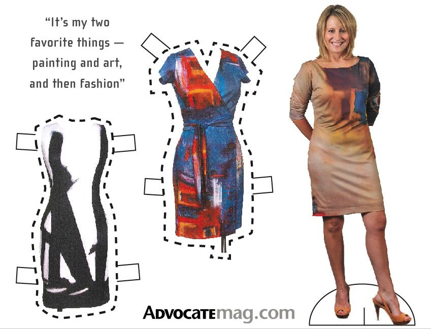 Lakewood designer's fashion based on her abstract paintings - Lakewood http://www.juliemicheldesigns.com/press.asp #juliemicheldesigns