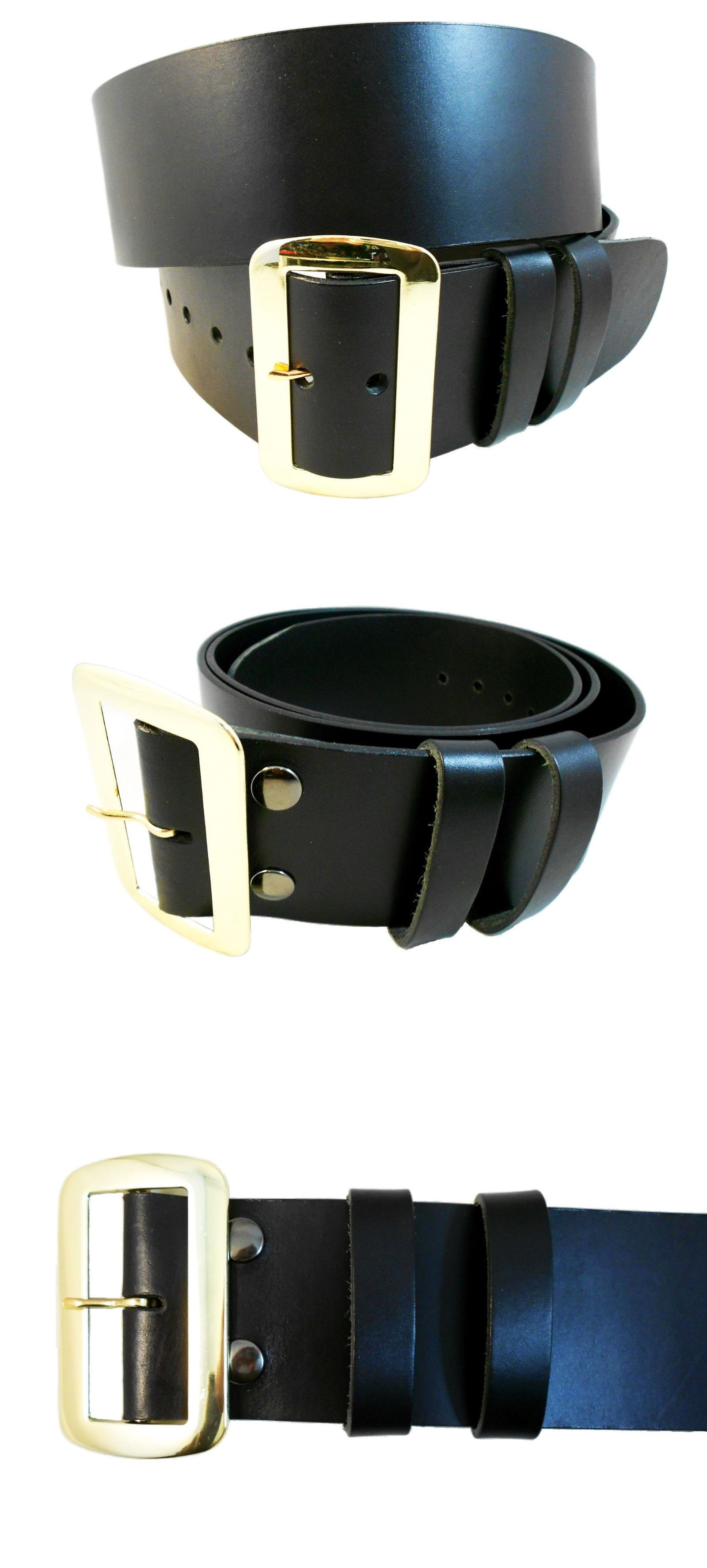 Leather Santa Claus Belt w Solid Brass Buckle hand Crafted// PIRATE