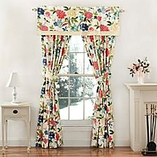 image of Waverly® Charmed Window Curtain Panels and Valance in Gardenia