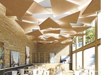 Rockfon Eclipse Acoustic Ceiling Clouds Acoustical Ceiling Floating Ceiling