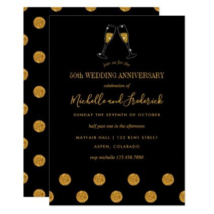 Th Golden Wedding Anniversary Invitation  Golden Wedding